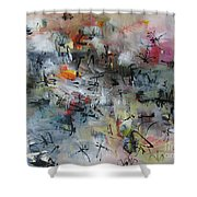 Butterfly And Dragonfly Paintings Shower Curtain