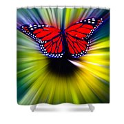 Butterfly Fly Shower Curtain