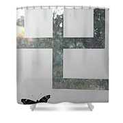 Butterfly Geometry  Shower Curtain