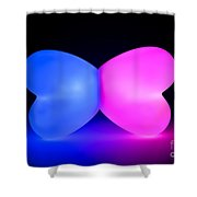 Butterfly Glowing Shape Shower Curtain