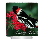 Butterfly Holiday Card Shower Curtain