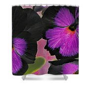 Butterfly Pansies Shower Curtain