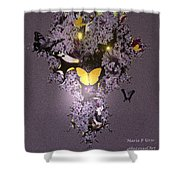 Butterfly Paradise Shower Curtain