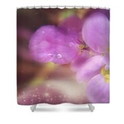 Butterfly Pea Wildflowers Shower Curtain