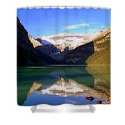 Butterfly Phenomenon At Lake Louise Shower Curtain