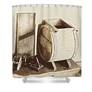 Buttermilk Churn 3540 Shower Curtain