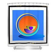 Buttock Cup Shower Curtain