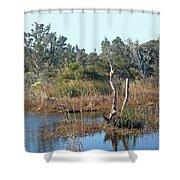 Buxton Salt Marsh - Outer Banks Nc Shower Curtain