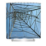 Buzz To The Sky Shower Curtain