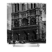 Vintage France Paris Notre Dame Cathedral 1970 Shower Curtain