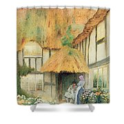 By The Cottage Door Shower Curtain