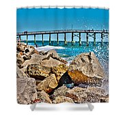 By The Pier Shower Curtain