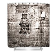 By The Sea In Brown Shower Curtain