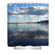 By The Sea In Maine Shower Curtain