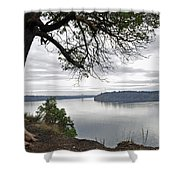 By The Still Waters Shower Curtain