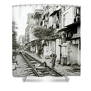 By The Tracks In Hanoi Shower Curtain