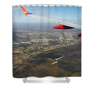By Water  By Air Shower Curtain