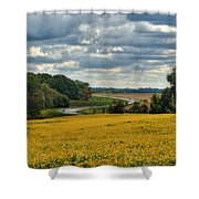 Bypass The Country Fields Shower Curtain