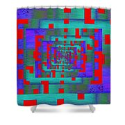 Byte Byway Shower Curtain by Tim Allen