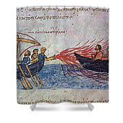 Byzantine Sailors  Shower Curtain