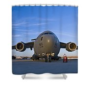 C-17 At Sunset Shower Curtain