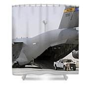 C-17s Deliver, Pick-up Cargo Shower Curtain