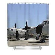 C-2a Greyhound Aircraft Start Shower Curtain