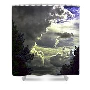 C Is For Clouds Shower Curtain