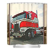 Cab-over Kenworth Shower Curtain