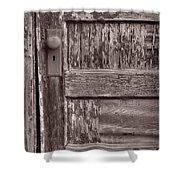 Cabin Door Bw Shower Curtain