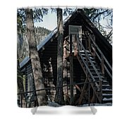 Cabin Get Away Shower Curtain
