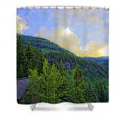 Cabin On The Mountain - Vail Shower Curtain