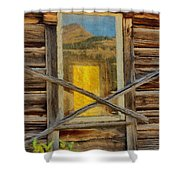 Cabin Windows Shower Curtain