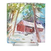 Cabine In The Troodos Mountains Shower Curtain