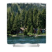 Cabins On The Lake Tahoe Shower Curtain