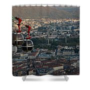 Cable Car In Grenoble  Shower Curtain