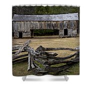 Cable Mill Barn In Cade's Cove No.122 Shower Curtain