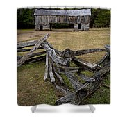 Cable Mill Barn In Cade's Cove No.123 Shower Curtain