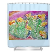 Cactus Color Shower Curtain