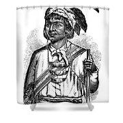 Caddo Chief, 1879 Shower Curtain