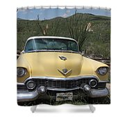 Caddy In The Desert Shower Curtain