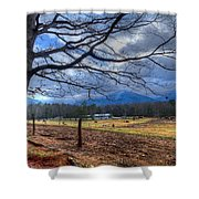 Cades Cove Lane Shower Curtain