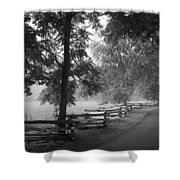 Cades Cove Tennessee In Black And White Shower Curtain