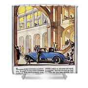 Cadillac Ad, 1927 Shower Curtain