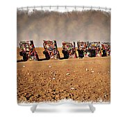 Cadillac Graveyard - Impressions Shower Curtain