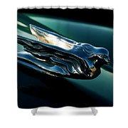 Cadillac Hood Angel Shower Curtain