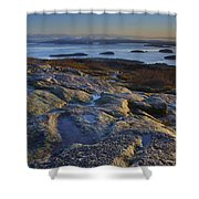 Cadillac Mountain And Frenchman's Bay Shower Curtain