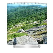 Cadillac Mountain Rocky View Shower Curtain