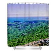 Cadillac Mt  Mt Desert Island Me Ocean View Shower Curtain