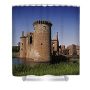 Caerlaverock Castle, Dumfries, Scotland Shower Curtain
